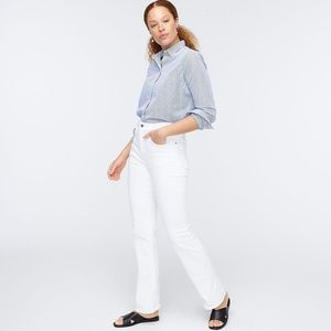NWT J Crew Curvy Full-length Demi Boot White Jean